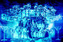 Абстрактный фон с изображением стеклянных бокалов, фото № 180675, снято 24 августа 2017 г. (c) Андрей Бурдюков / Фотобанк Лори
