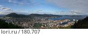 Купить «Панорамный вид на Берген, Норвегия», фото № 180707, снято 22 апреля 2018 г. (c) Наталья Белотелова / Фотобанк Лори