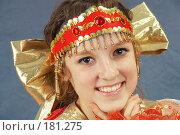 Купить «Девочка в кокошнике», фото № 181275, снято 12 января 2008 г. (c) Федор Королевский / Фотобанк Лори