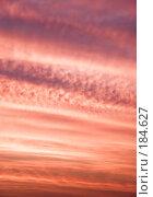 Купить «Утренние розовые облака на рассвете», фото № 184627, снято 6 июля 2007 г. (c) chaoss / Фотобанк Лори