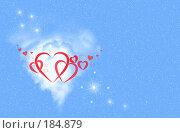 Купить «Сердца на голубом фоне», иллюстрация № 184879 (c) ElenArt / Фотобанк Лори
