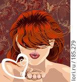 Воздушный поцелуй. Стоковая иллюстрация, иллюстратор Цепков Андрей / Фотобанк Лори
