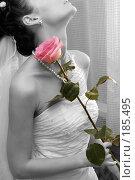 Купить «Невеста с розой», фото № 185495, снято 24 декабря 2007 г. (c) Михаил Мандрыгин / Фотобанк Лори