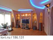 Купить «Гостиная в коттедже. Интерьер», фото № 186131, снято 19 апреля 2005 г. (c) Иван Сазыкин / Фотобанк Лори