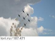 Купить «Пилотажная группа Русь», фото № 187471, снято 15 августа 2004 г. (c) Константин Куцылло / Фотобанк Лори