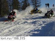Купить «Гонка на снегоходах», фото № 188315, снято 20 января 2008 г. (c) Талдыкин Юрий / Фотобанк Лори