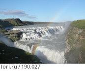 Купить «Водопад Гульфосс , Исландия», фото № 190027, снято 2 августа 2007 г. (c) Юлия Севастьянова / Фотобанк Лори