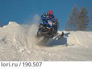 Купить «Гонка на снегоходах», фото № 190507, снято 26 мая 2018 г. (c) Талдыкин Юрий / Фотобанк Лори