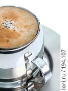 Купить «Чашка кофе, на белом фоне», фото № 194107, снято 17 ноября 2007 г. (c) Александр Паррус / Фотобанк Лори
