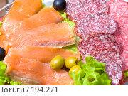 Купить «Мясные и рыбные деликатесы», фото № 194271, снято 12 января 2008 г. (c) chaoss / Фотобанк Лори