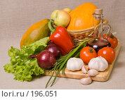 Купить «Натюрморт с овощами», фото № 196051, снято 5 февраля 2008 г. (c) Мельников Дмитрий / Фотобанк Лори