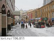 Купить «Старый Арбат зимой», фото № 196811, снято 23 февраля 2006 г. (c) Андрей Ерофеев / Фотобанк Лори