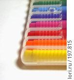 Купить «Цветные фломастеры», фото № 197815, снято 8 февраля 2008 г. (c) Андрей Никитин / Фотобанк Лори