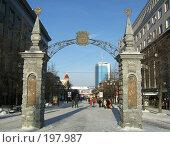 Купить «Ворота на улице Кирова в Челябинске», фото № 197987, снято 5 января 2008 г. (c) Корчагина Полина / Фотобанк Лори