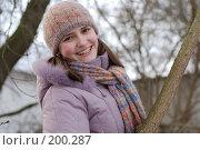 Купить «Веселая девчонка», фото № 200287, снято 11 декабря 2018 г. (c) Мирослава Безман / Фотобанк Лори