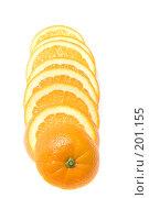 Купить «Разрезанный апельсин», фото № 201155, снято 4 февраля 2008 г. (c) Угоренков Александр / Фотобанк Лори