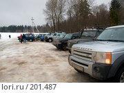 Купить «Внедорожники», фото № 201487, снято 9 февраля 2008 г. (c) Сергей Лаврентьев / Фотобанк Лори