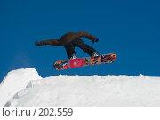 Купить «Прыжок сноубордиста», фото № 202559, снято 8 февраля 2008 г. (c) Талдыкин Юрий / Фотобанк Лори