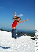 Купить «Прыжок», фото № 203491, снято 23 августа 2006 г. (c) Ирина Игумнова / Фотобанк Лори