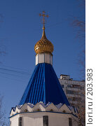 Купить «Купол часовни в Тушино. Москва.», фото № 203983, снято 16 февраля 2008 г. (c) Николай Коржов / Фотобанк Лори