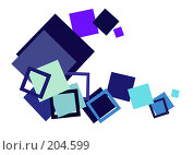 Купить «Геометрический этюд в синих тонах», фото № 204599, снято 20 июля 2018 г. (c) Алексей Ладыгин / Фотобанк Лори