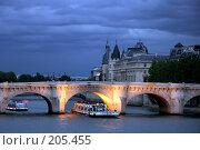 Купить «Ночь на Сене. Париж», фото № 205455, снято 8 мая 2007 г. (c) Юлия Кузнецова / Фотобанк Лори