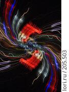 Купить «Разноцветные линии на темном фоне», фото № 205503, снято 17 февраля 2008 г. (c) Андрей Ерофеев / Фотобанк Лори
