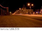 Купить «Ночная площадь», фото № 206519, снято 10 февраля 2008 г. (c) Лукьянов Иван / Фотобанк Лори
