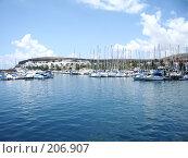 Купить «Яхты в гавани», фото № 206907, снято 21 марта 2007 г. (c) Алёна Фомина / Фотобанк Лори