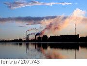 Купить «Промышленный закат», фото № 207743, снято 18 июня 2005 г. (c) Егорова Елена / Фотобанк Лори