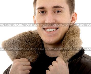 Купить «Мужчина в тёплой одежде», фото № 209499, снято 9 февраля 2008 г. (c) Serg Zastavkin / Фотобанк Лори