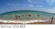 Купить «Махачкала, пляж, горизонт», фото № 212423, снято 31 июля 2007 г. (c) Виктор Филиппович Погонцев / Фотобанк Лори