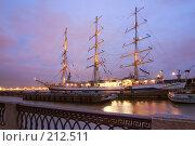 Купить «Парусник. Нева. Санкт-Петербург», эксклюзивное фото № 212511, снято 6 ноября 2007 г. (c) Александр Алексеев / Фотобанк Лори