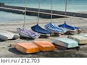Купить «Яхты на сухом берегу», фото № 212703, снято 28 февраля 2008 г. (c) Федор Королевский / Фотобанк Лори