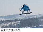 Купить «Прыжок сноубордиста», фото № 213079, снято 8 февраля 2008 г. (c) Талдыкин Юрий / Фотобанк Лори