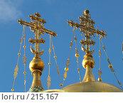 Купить «Кресты храма Воскресения христова (Спаса на крови)», фото № 215167, снято 21 октября 2007 г. (c) Илья Благовский / Фотобанк Лори