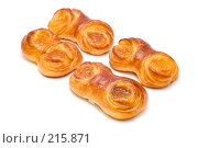 Купить «Маленькие булочки с джемом на белом фоне», фото № 215871, снято 5 марта 2008 г. (c) Угоренков Александр / Фотобанк Лори