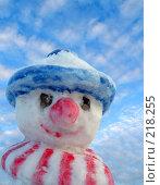 Купить «Снеговик», фото № 218255, снято 25 мая 2019 г. (c) ElenArt / Фотобанк Лори
