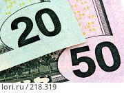 Купить «Деньги. Фрагмент», фото № 218319, снято 17 августа 2018 г. (c) ElenArt / Фотобанк Лори