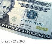 Купить «Двадцать долларов», фото № 218363, снято 21 сентября 2018 г. (c) ElenArt / Фотобанк Лори