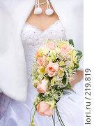 Купить «Невеста с букетом», фото № 219819, снято 1 марта 2008 г. (c) Вадим Пономаренко / Фотобанк Лори