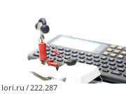 Купить «Продвинутый пользователь и карманный переводчик», фото № 222287, снято 29 февраля 2008 г. (c) Павел Савин / Фотобанк Лори