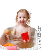 Купить «Ребенок купается в ванне», фото № 225027, снято 13 марта 2008 г. (c) Майя Крученкова / Фотобанк Лори