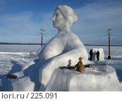 Купить «Гиперборея-2008. Работа. Глина и снег.», фото № 225091, снято 15 февраля 2008 г. (c) Сергей Костин / Фотобанк Лори
