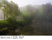 Купить «Пруд туманным утром», фото № 225167, снято 27 апреля 2007 г. (c) Михаил Лавренов / Фотобанк Лори