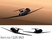 Купить «Самолет в полете», иллюстрация № 225963 (c) Александр Володин / Фотобанк Лори