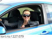 Купить «Молодая девушка за рулем», фото № 227079, снято 9 сентября 2007 г. (c) Наталья Белотелова / Фотобанк Лори
