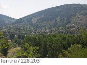 Купить «Болгарское селение в горной долине», фото № 228203, снято 19 августа 2007 г. (c) Harry / Фотобанк Лори