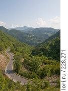Купить «Извилистый горный серпантин», фото № 228271, снято 19 августа 2007 г. (c) Harry / Фотобанк Лори