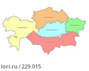 Купить «Территориальное деление Казахстана», иллюстрация № 229015 (c) Елена Киселева / Фотобанк Лори